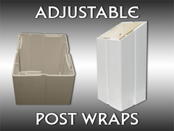 Adjustable Post Wrap - TheRailingStore com